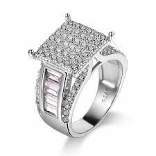 Square Shape Ring Design Cherryn Geometric Design Square Shape Zircon Stones Women