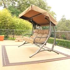 bench swing with canopy outdoor swing chair with canopy l patio swing canopy replacement gray stained