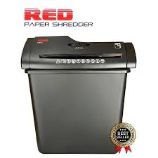 red strip cut paper shredder shredding machine