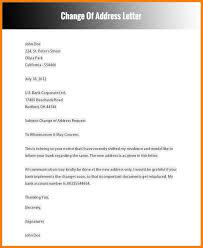 12 Change Address Letter Sample Fillin Resume