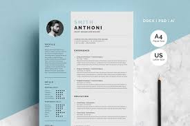 Clean Resume 2 Pages Resume Templates Creative Market