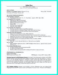 Resume Tremendous Programmer Resume Template Computer Word