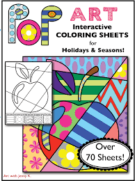 Small Picture Interactive Coloring Writing for ALL Holidays Fun for First