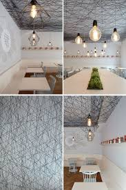 mars s architects have designed a modern bistro with an irregular web semi transpa