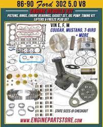 05 07 dodge dakota 4 7 v8 high output engine rebuild kit vin j 86 90 ford 5 0 302 v8 16v engine rebuild kit for crown victoria mark