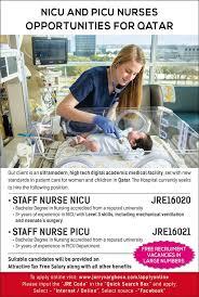 Picu Nurse Qatar Nicu Picu Nurses Recruitment To Government Hospital