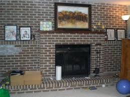 how are mantels attached to brick red brick fireplace with white mantle update wall mantel how