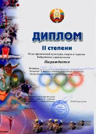 second place in bobruisk track   bobruisk track 2011 and was awarded a diploma of ii degree by the department of physical culture sport and tourism of bobruisk executive committee
