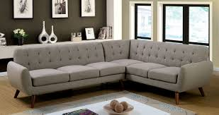 Furniture of America 6144 Gray Mid Century Modern Sectional sofa