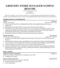 Store Manager Resume Examples Grocery Store Manager Resume Example Gorgeous Resume Sample For Store Manager