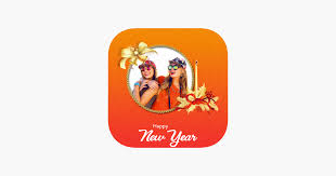 happy new year photo frame on the app