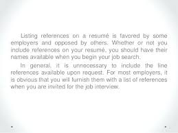 Listing References On Resume Do You List References On A Resume References Resume Format