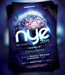 50 amazing christmas and new year s eve flyers for the holiday season nye 2099 party flyer template