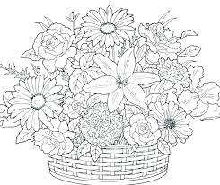 A Flower Coloring Page Free Printable Hearts And Flowers Coloring