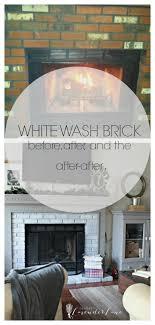 How To Whitewash Brick New Year New Room Challenge Re Whitewashing The Brick Fireplace