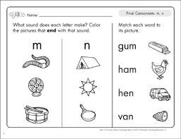 Free letter m writing practice worksheet. Final Consonants M N Phonics Learning Mats Printable Skills Sheets