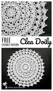 Free Crochet Pattern Yarn Review Clea Doily Crochet