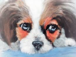 animal painting handmade livemaster handmade dog portrait wool watercolor painting with frame