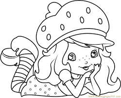 cute strawberry shortcake coloring page strawberry shortcake 80 s