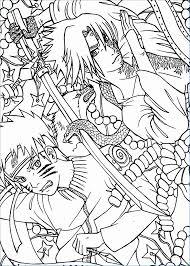 The Naruto And Nine Tailed Fox Kurama Naruto Coloring Pages