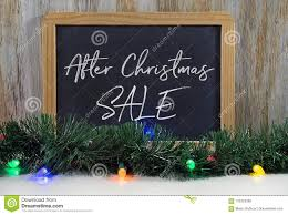 Chalkboard With Lights After Christmas Sale Sign On Black Chalkboard With Lights
