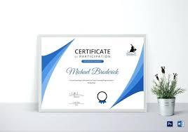 Design Of Certificate Of Participation Coach Participation