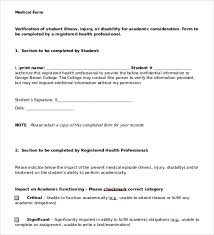 Doctors Note Template 9 Free Sample Examples Format