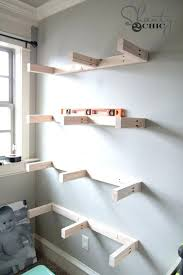 architecture l shaped floating shelves incredible beautiful pure white corner book two level with regard