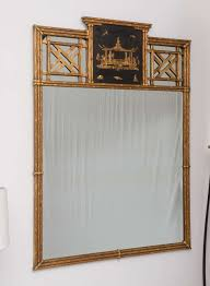 Hollywood-Regency Style, Chinese Chippendale Over-Mantle Mirror with Pagoda  2