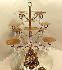 ont treasures antique gold cupcake stand wedding centerpiece candelabra