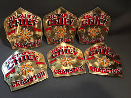 deputy chiefs 22kt encapsulated gold leaf helmet shield