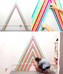 washi tape wall temporary wallpaper using tape cool washi tape wall designs