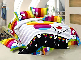 mickey mouse and minnie mouse kissing bed set cotton kids bedding set king size mickey mouse