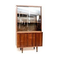 sliding glass door cabinet vintage mid century modern china hutch display hardware