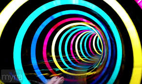 Water Slide Tunnel With Trippy Led Rainbow Effect Lights Myria