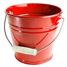 garden bucket. Kids Metal Sand Pail | Garden Bucket Red W