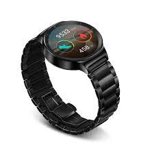 huawei smartwatch black. huawei watch black stainless steel with link band (u.s. warranty): amazon.co.uk: electronics smartwatch i
