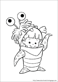 Monster Coloring Pages For Preschoolers Bltidm
