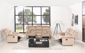 reclining living room furniture sets. Asturias Traditional Classic 3 Piece Microfiber Recliner Living Room Set - Beige Reclining Furniture Sets