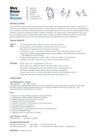 Nurse Resume Example Extraordinary Nursing Template Resume Download Cteamco