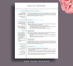 Resume Templates Pages One Page Resume Template Pages Resume ...