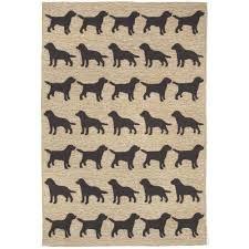 woodside dog parade black 4 ft x 6 ft indoor outdoor area rug