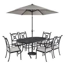 home styles athens 7 piece patio dining set with umbrella 5569 3386 the