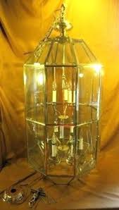 vintage beveled glass chandelier replacement panels touch lamp bevele
