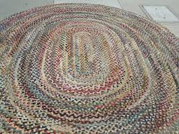 decorating charming and multicolor oval braided rugs for floor