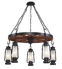 chapman lantern 5 light wagon wheel chandelier
