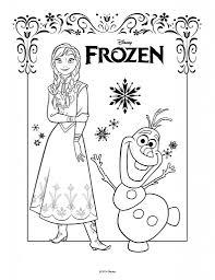 Disegni Da Colorare Di Frozen Da Stampare Gratisanna E Olaf