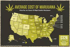Weed Prices Gram Chart The Average Cost Of Marijuana By State Oxford Treatment Center