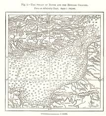 Dover Strait Chart Dover Strait English Channel From Admiralty Chart Soundings Sketch Map 1885