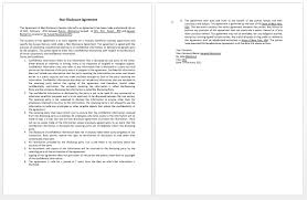 confidentiality agreement template confidentiality contract template microsoft word templates